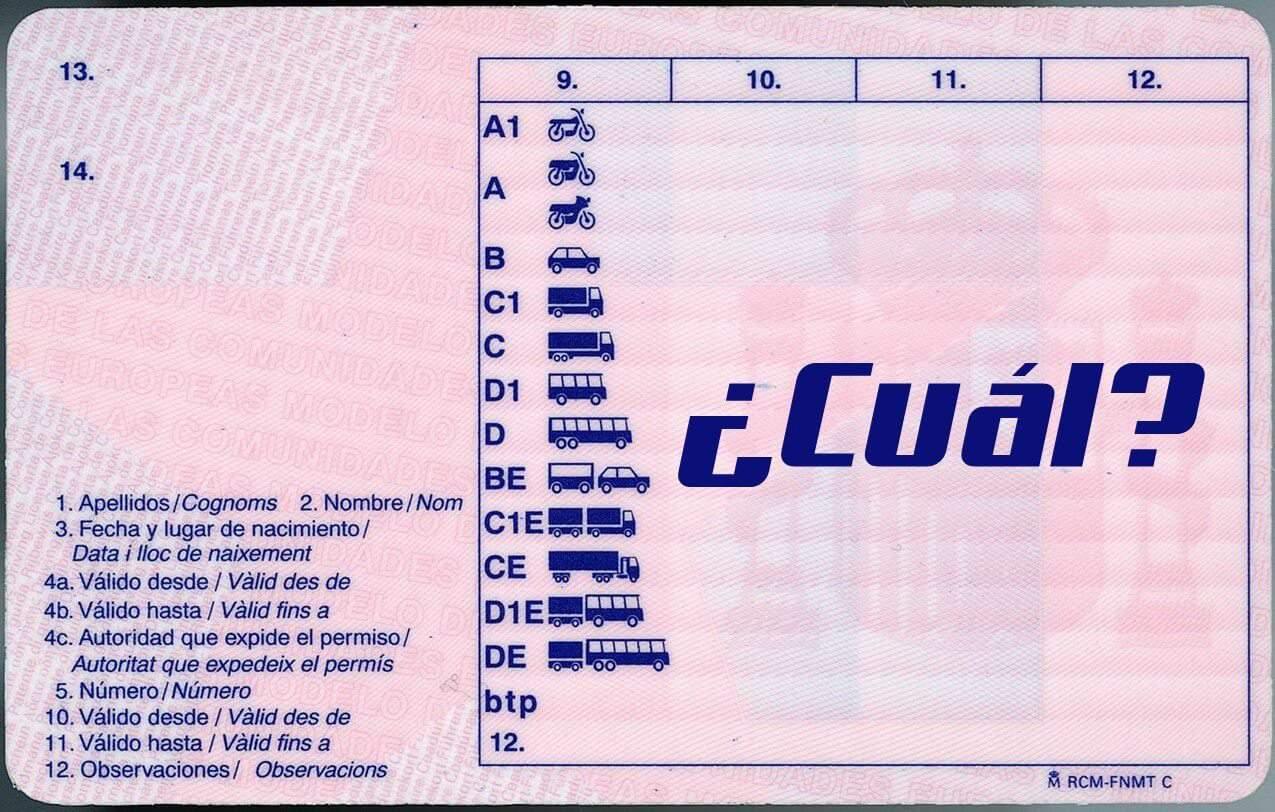 carnet para conducir Autocaravanas